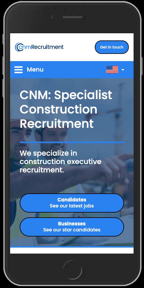 WordPress Design for CNM Recruitment