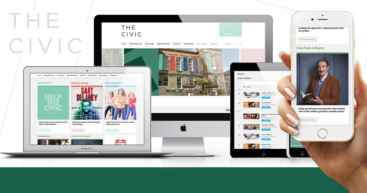 Website Design for The Civic Holmfirth
