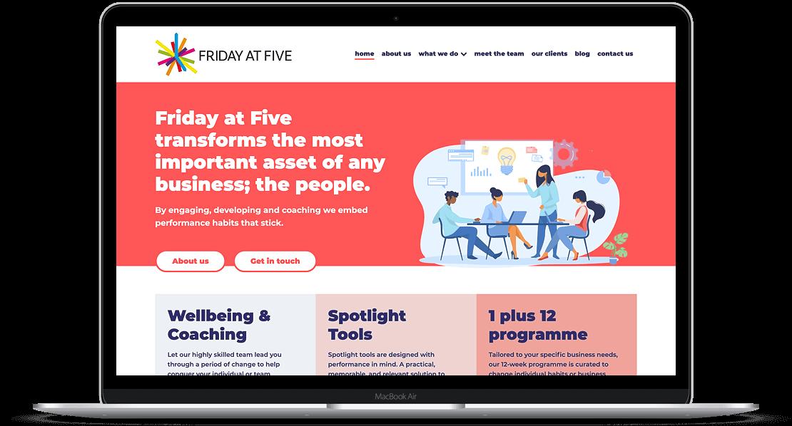Website Design for Friday at Five