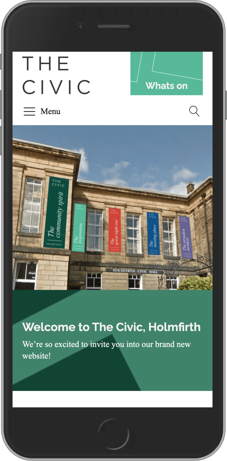WordPress Design for The Civic Holmfirth