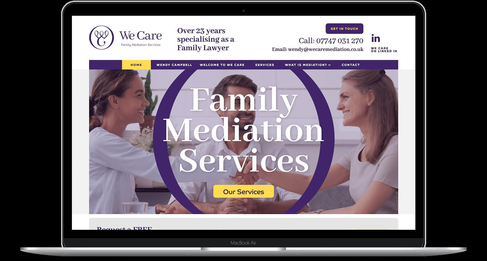 Website Design for We Care Mediation