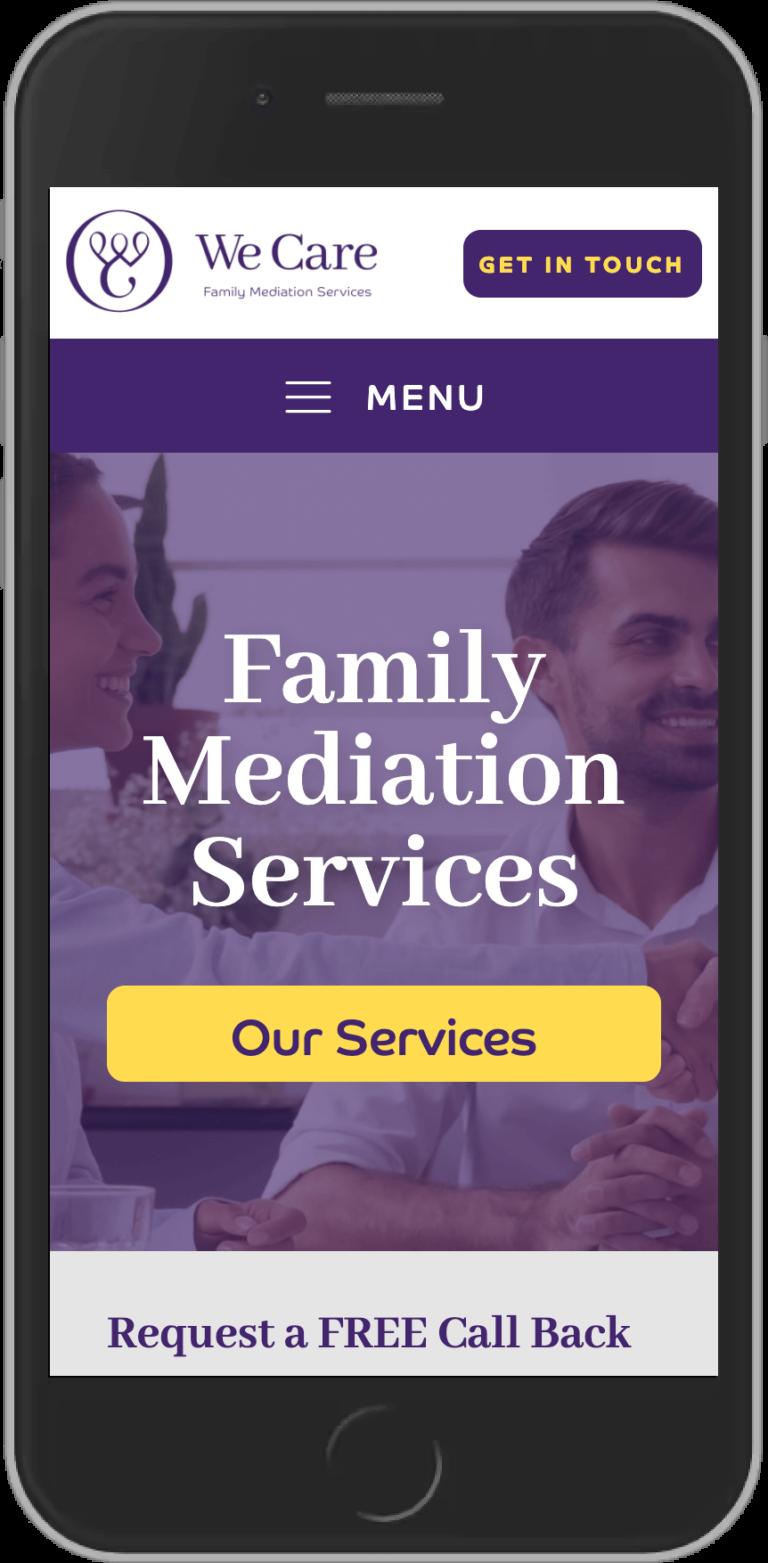 WordPress Design for We Care Mediation